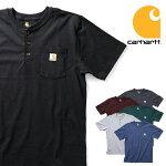 『CARHARTT/カーハート』crhtt-K84WORKWEARPOCKETSHORT-SLEEVEH/NT-SHIRT/ワークウェアポケットヘンリーネック半袖Tシャツ-全6色-/ORIGINALFIT/ワークウェア/パッチ/6.75オンス/[CRHTT-K84]