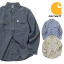 『CARHARTT/カーハート』crhtt-s202 FORT L/S CHAMBRAY SHIRT / ロングスリーブシャンブレーシャツ -全3色-アメリカ/1889/ロゴ/ボタンダウン/パッチ/ロ