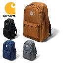 『CARHARTT/カーハート』 crhtt100301 BACKPACK / バックパック -全4色- 「メンズ」「レディース」「ユニセックス」「バッグ」「大容量…