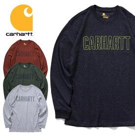 ビッグtシャツ 『CARHARTT/カーハート』crhtt103841 WORKWEAR BLOACK LOGO GRAPHIC L/S T-SHIRT/ ワークウェアブロックロゴグラフィック長袖Tシャツ -全4色-アメリカ/1889/Tシャツ/パッチ[CRHTT103841]