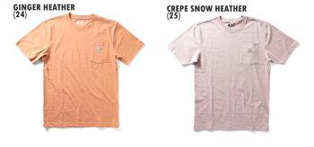 『CARHARTT/カーハート』CRHTT87POCKETSHORTSLEEVETEE/ポケット半袖Tシャツ-全17色-アメリカ/ワークウェア/WORKWEAR/6.75オンス/パッチ/ロゴ/霜降/ヘザー[CRHTT87]