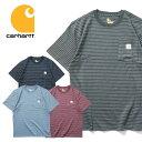 ビッグtシャツ 『CARHARTT/カーハート』crhtt87b WORKWEAR BORDER POCKET TEE SHIRT -Original Fit- / ワークウェアボーダーポケット半…