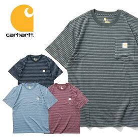 ビッグtシャツ 『CARHARTT/カーハート』crhtt87b WORKWEAR BORDER POCKET TEE SHIRT -Original Fit- / ワークウェアボーダーポケット半袖Teeシャツ -全4色-アメリカ/1889/ロゴ/Tシャツ[CRHTT87B]