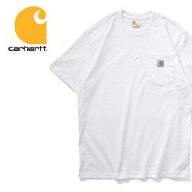 CARHARTT / カーハート crhtt87 POCKET TEE SHIRT -Original Fit- / ポケット半袖Teeシャツ -WHITE- -全1色-アメリカ/1889/ロゴ/Tシャツ[CRHTT87]