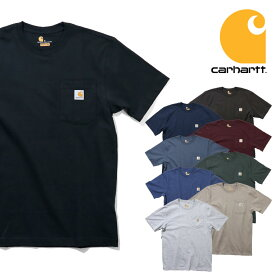 『CARHARTT/カーハート』 CRHTT87 POCKET SHORT SLEEVE TEE / ポケット半袖Tシャツ -全9色-アメリカ/ワークウェア/WORKWEAR/6.75オンス/パッチ/ロゴ/ORIGINAL FIT[CRHTT87]