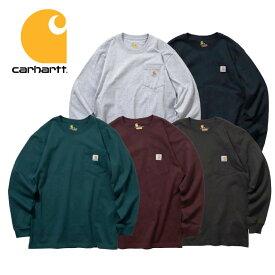 『CARHARTT/カーハート』 crhtt-k126 LONG SLEEVE WORKWEAR POCKET T-SHIRT / ロングスリーブ ワークウェア ポケットTシャツ -全5色- 「カジュアル」「コットン」「リブ」「アメカジ」「K126」[CRHTT-K126]