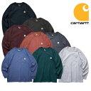 『CARHARTT/カーハート』 crhtt-k126 LONG SLEEVE WORKWEAR POCKET T-SHIRT / ロングスリーブ ワークウェア ポケットTシャツ -全8色- …