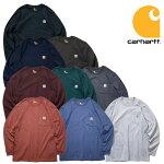 『CARHARTT/カーハート』crhtt-k126LONGSLEEVEWORKWEARPOCKETT-SHIRT/ロングスリーブワークウェアポケットTシャツ-全9色-「カジュアル」「コットン」「リブ」「アメカジ」「K126」[CRHTT-K126]
