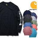 『CARHARTT/カーハート』 crhtt-k231 LONG SLEEVE GRAPHIC LOGO T-SHIRT / 長袖 グラフィックロゴ Tシャツ -全11色- カジュアル/プリント/ロゴ/リブ/ストリート/ORIGINAL FIT/ビッグサイズ / ロンT[CRHTT-k231]