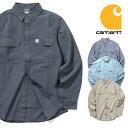 『CARHARTT/カーハート』crhtt-s202 FORT L/S CHAMBRAY SHIRT / ロングスリーブシャンブレーシャツ -全4色-アメリカ/1889/ロゴ/ボタン…