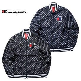 Champion チャンピオン cl-v1941p SATIN BASEBALL JACKET / サテンベースボールジャケット -全2色-コットン/ロゴ/刺繍/メッシュ/光沢/野球/[cl-v1941p]