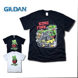 『GILDAN/ギルダン』rtbd_001 RAT FINK PRINT TEE / ラットフィンクプリントTシャツ -全3種-ネズミ/R.T/インポート/[rtbd_001]