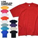 『LOS ANGELES APPAREL / ロサンゼルスアパレル』 LAA1801GD Garment Dye Short Sleeve Crew Nek 6.5oz /ガーメント ダイ 半袖クルーネ…