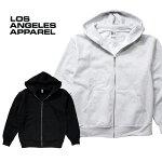 『LOSANGELESAPPAREL/ロサンゼルスアパレル』L-HF10HeavyFleeceZipUpHoodedSweatshirt/ヘビーフリースジップアップフードスウェットシャツ-全2色-/Tシャツ/長袖/ユニセックス/ビンテージ/アメリカ/[L-HF010]