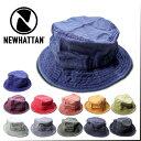 『NEWHATTAN/ニューハッタン』nhn1505 PIGMENT BUCKET HAT / ピグメントバケットハット -全12種-帽子/無地/コットン/ウォッシュ加工/ア…