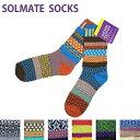SOLMATE SOCKS / ソルメイトソックス slmt001 ADULT CREW SOCKS / アダルトクルーソックス -全7色- 靴下 カラフル アメリカ製 カジュア…