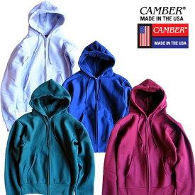 『CAMBER/キャンバー』14cam231 12OZ CROSS KNIT FULL ZIP PARKA / 12オンス クロスニット フルジップパーカー -全4色-「トレーナー」「スウェット」「インナー」「ソリッド」「ノームコア」「無地」「ヘビーオンス」「アメリカ製」「USA」「ワーク」[14CAM231]