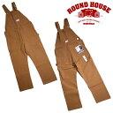 『ROUND HOUSE/ラウンドハウス』17RH383 HEAVY DUTY BROWN DUCK BIB OVERALLS / ヘビーデューティブラウンダック ビ…
