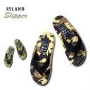 『ISLAND SLIPPER/アイランドスリッパ』is-pt203c CAMOUFLAGE SUEDE SANDAL/カモフラージュ スエード サンダル -全2色-/革/スウェード/…