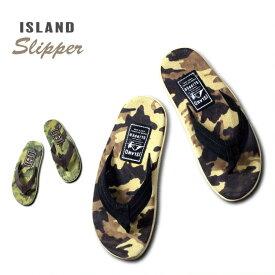 『ISLAND SLIPPER/アイランドスリッパ』is-pt203c CAMOUFLAGE SUEDE SANDAL/カモフラージュ スエード サンダル -全2色-/革/スウェード/ハワイ/アメリカ/HAWAII/USA/迷彩[is-pt203c]