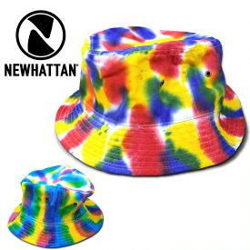 『NEWHATTAN/ニューハッタン』nhn-td1500 TIEDYE BUCKET HAT / タイダイバケットハット -全2色-帽子/コットン/カラフル/染め/派手/ビンテージ/ウォッシュ/花柄/[nhn-td1500]