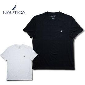 NAUTICA ノーティカ NTC61704 SOLID CREW NECK TEE / ソリッド クルーネックTシャツ -全2色- コットン ホワイト ブラック インポート ノーチカ Tee [NTC61704]