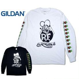 『GILDAN/ギルダン』rf219ls RAT FINK PRINT L/S TEE / ラットフィンクプリントロングTシャツ -全2色-ネズミ/R.T/長袖/[rf219ls]