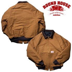 『ROUND HOUSE/ラウンドハウス』RH1830 TRADITIONAL JACKET 12oz BROWN / トラディショナルジャケット -ブラウン- 「アメリカ製」「made in USA」「アメカジ」「ワーク」「キルティング」「ダック」「オンス」[RH1830]