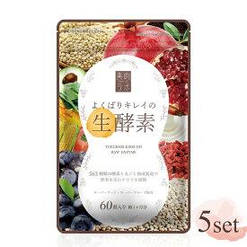 送料無料 美的ラボ よくばりキレイの生酵素 5袋セット (1袋/60粒 30日分) ダイエット サプリ コラーゲン ヒアルロン酸 プラセンタ 腸活