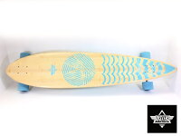 "DUSTERSスケボー44インチ【RIPPLEPINTAILLongboard44""COMPLETE9.5x44""】ロングボードコンプリートロングスケートボードソフトウィール"