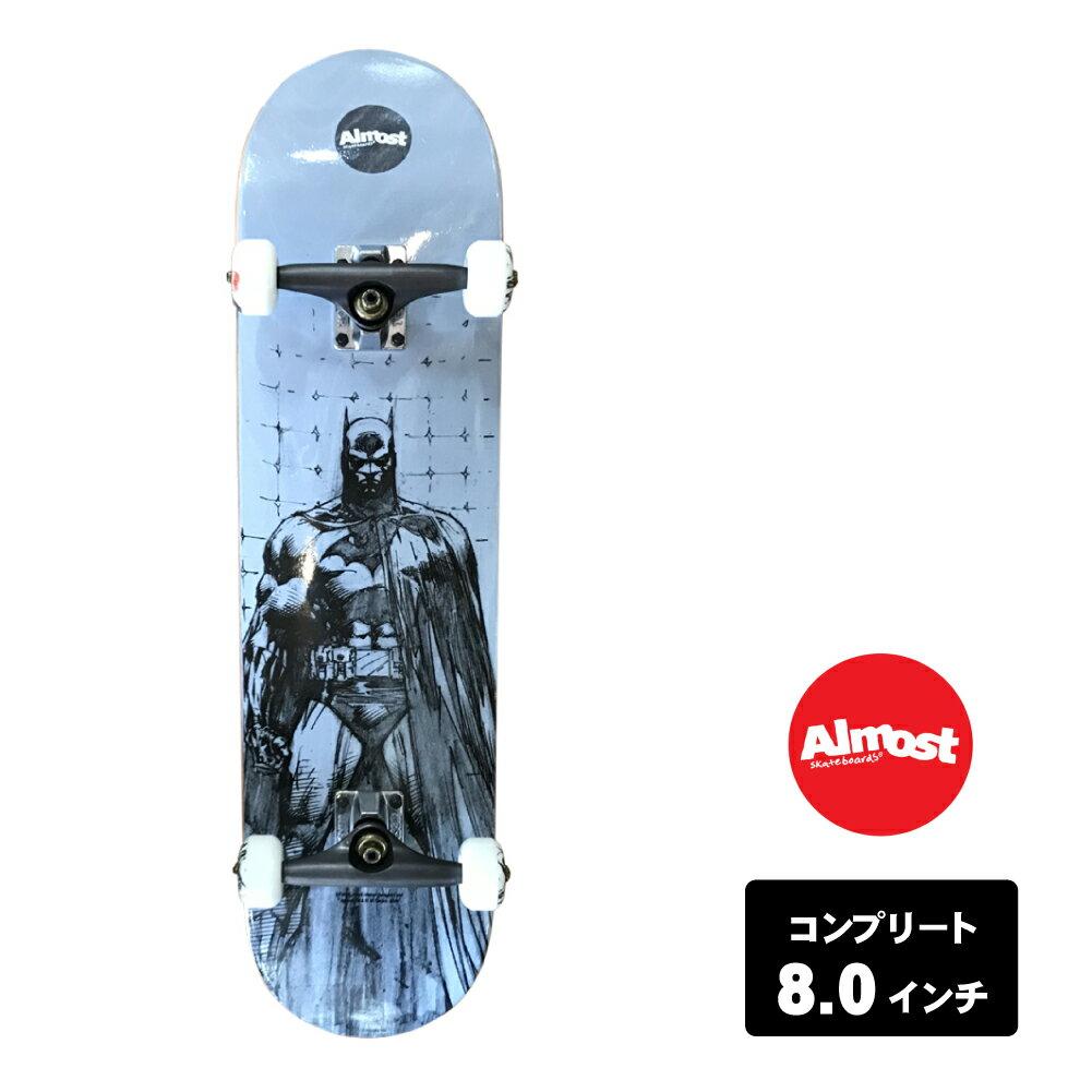 ALMOST スケートボード デッキ コンプリート セット 8.0インチ 【 BATMAN JIM LEE WHITE 】 スケボー オールモスト