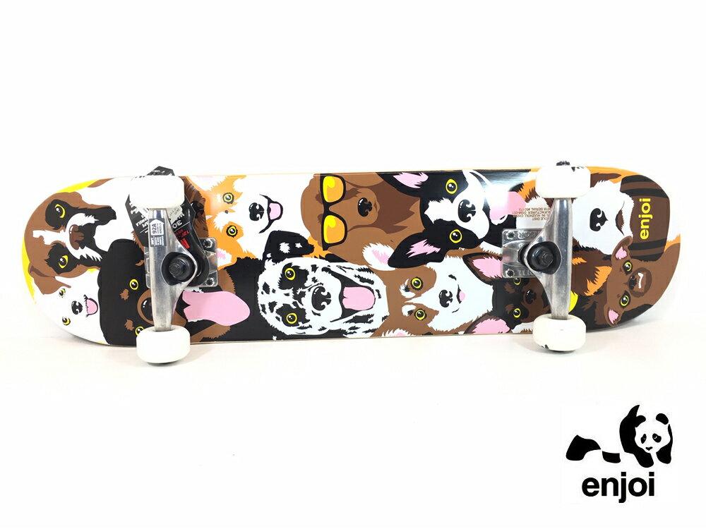 enjoi キッズ用スケートボード コンプリート 7.375インチ 【 DOG COLLAGE 7.375 X 29.8 】 スケボー エンジョイ SKATEBOARD DECK