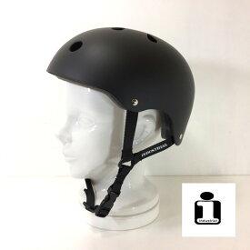 スケートボード用ヘルメット INDUSTRIAL 【 HELMET マットブラック 】リップスティック デラックス ミニ