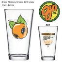 OJ WHEELS Brass Monkey Unisex Pint Glass オージェイウィール コップガラス