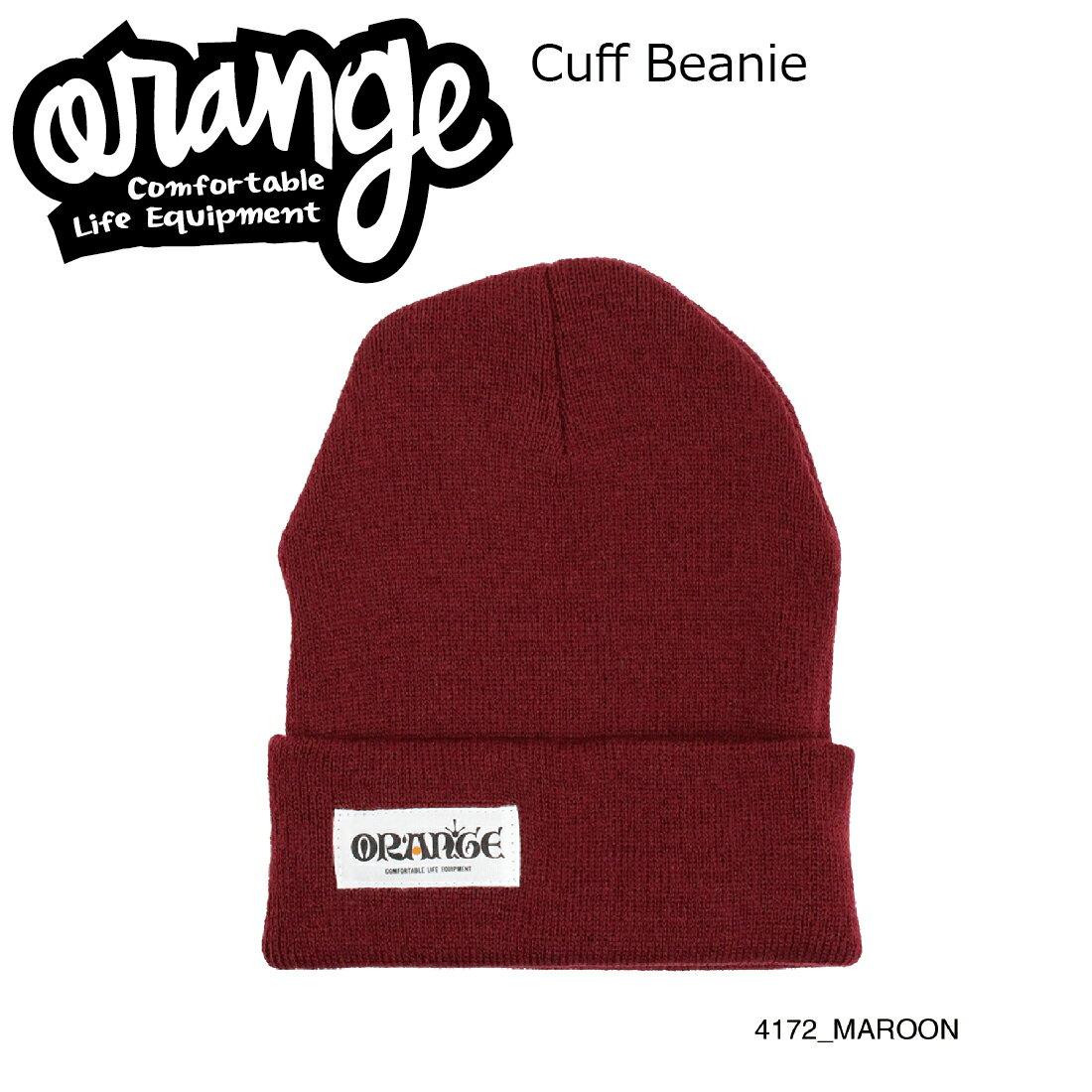 Oran'ge Cuff Beanie 4172 MAROON オレンジ カフ ビーニー ニットキャップ 2つ折り