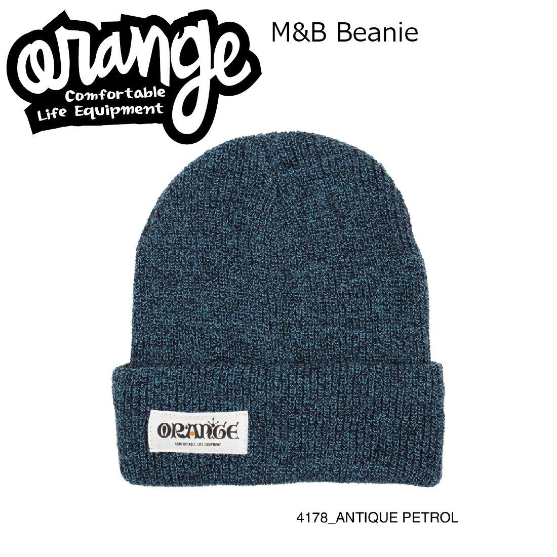 Oran'ge M&B Beanie 4178 ANTIQUE PETROL オレンジ エムアンドビー ビーニー ニットキャップ 2つ折り
