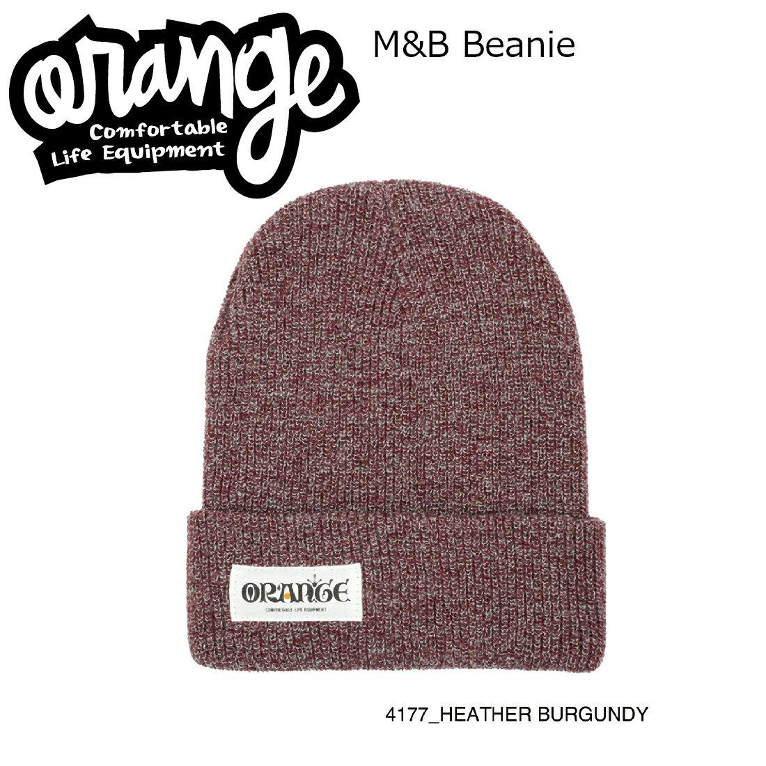 Oran'ge M&B Beanie 4177 HEATHER BURGUNDY オレンジ エムアンドビー ビーニー ニットキャップ 2つ折り