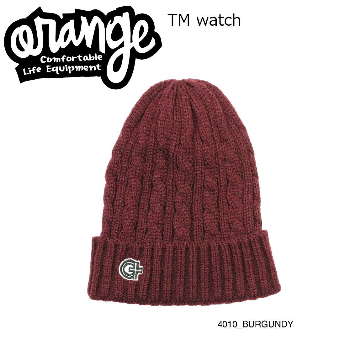 Oran'ge Tm Watch Cap Beanie 4010 BURGUNDY オレンジ ティーエム ワッチ キャップ ビーニー ニットキャップ 2つ折り