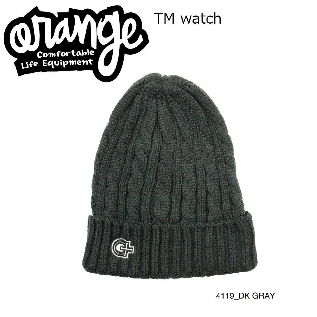 Oran'ge Tm Watch Cap Beanie 4119 DARK GRAY オレンジ ティーエム ワッチ キャップ ビーニー ニットキャップ 2つ折り