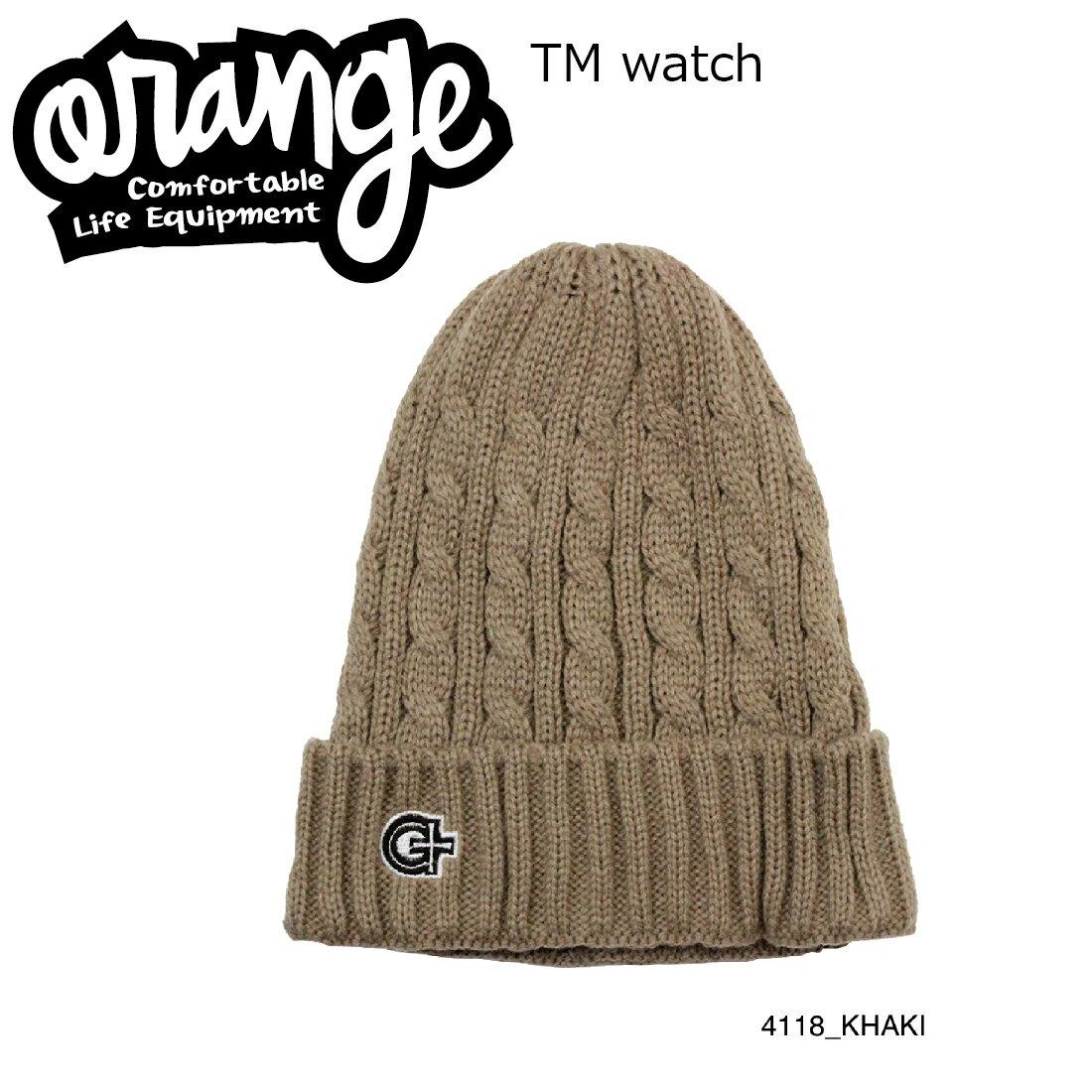 Oran'ge Tm Watch Cap Beanie 4118 KHAKI オレンジ ティーエム ワッチ キャップ ビーニー ニットキャップ 2つ折り