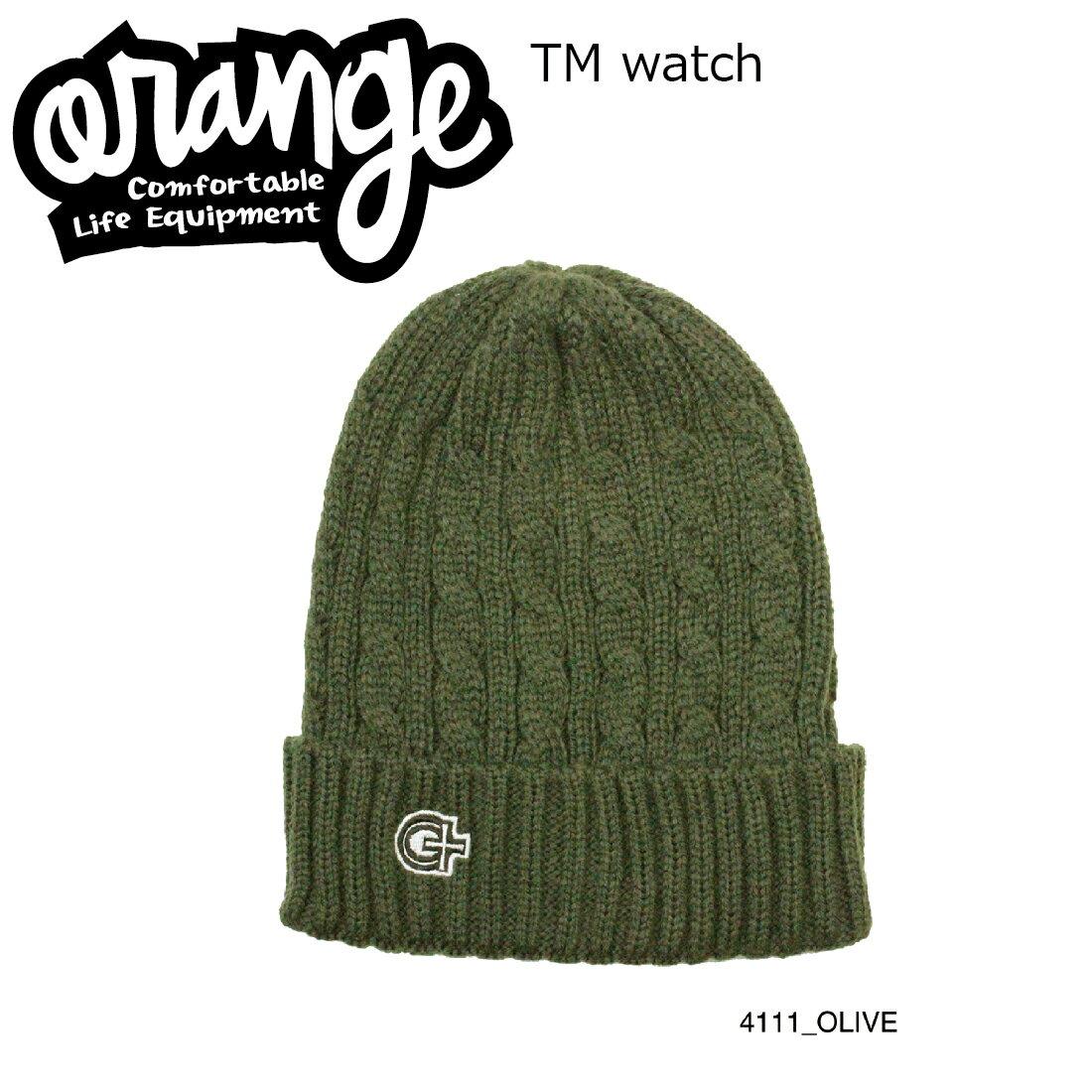 Oran'ge Tm Watch Cap Beanie 4111 OLIVE オレンジ ティーエム ワッチ キャップ ビーニー ニットキャップ 2つ折り