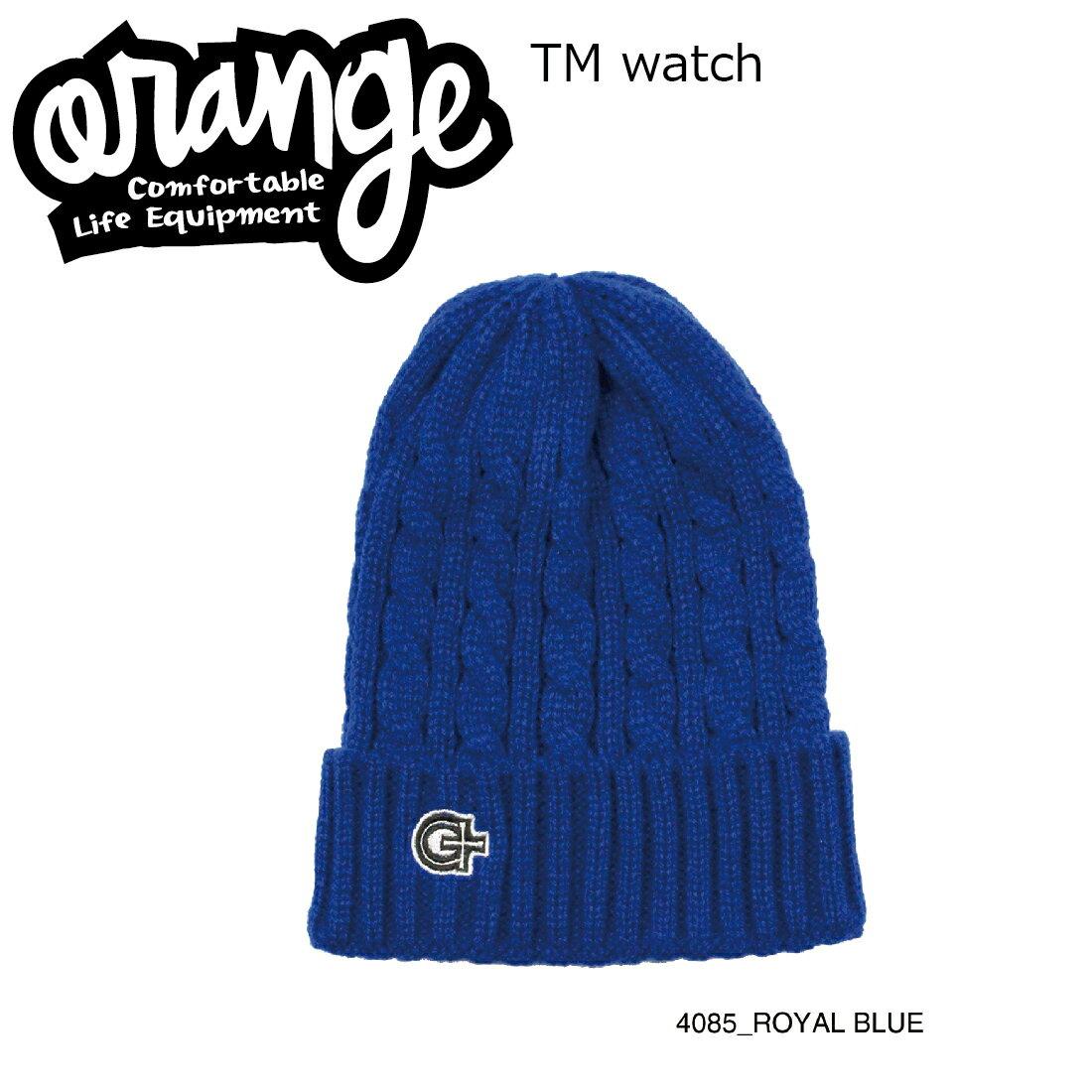 Oran'ge Tm Watch Cap Beanie 4085 ROYAL BLUE オレンジ ティーエム ワッチ キャップ ビーニー ニットキャップ 2つ折り