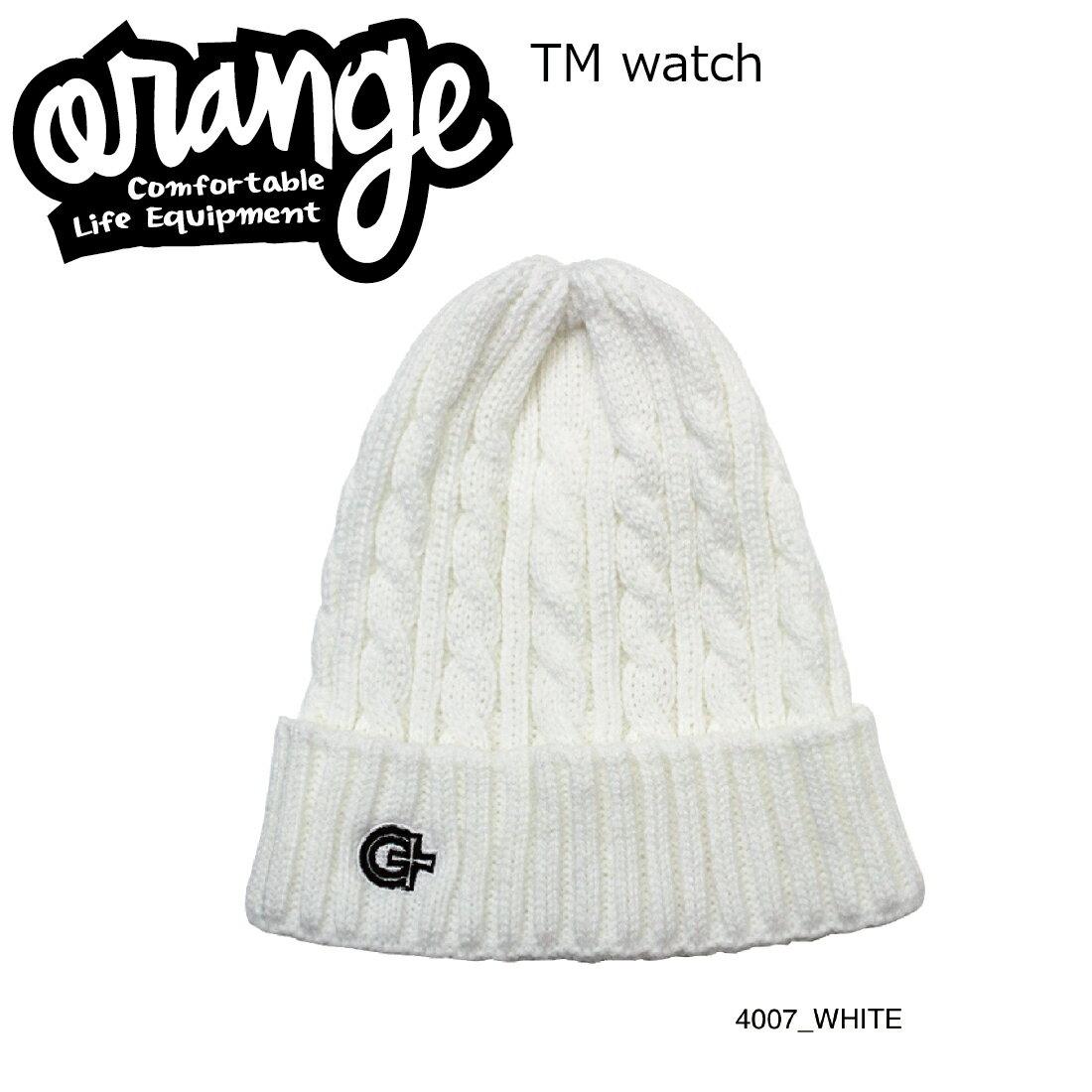 Oran'ge Tm Watch Cap Beanie 4007 WHITE オレンジ ティーエム ワッチ キャップ ビーニー ニットキャップ 2つ折り