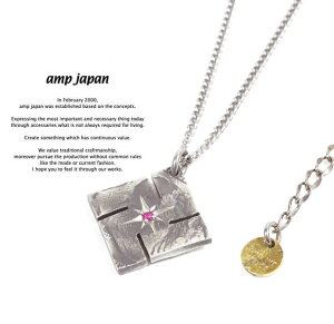 アンプジャパン amp japan 13AA-105 Swastika Native American Coin Necklace RubyAMP JAPAN コイン ネックレス コインネックレス メンズ レディース