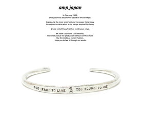 amp japan アンプジャパン 17AJK-351 TOO FAST TO LIVE TOO YOUNG TO DIE BangleAMP JAPAN Silver シルバー メッシュ バングル メンズ レディース