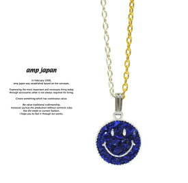 アンプジャパン amp japan 15AJK-135NV Crushed Stone Smile -Lapis- AMP JAPAN スマイル ネックレス メンズ レディース