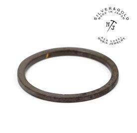 "NURA-46/BK ""FAT""NUBIA/ヌビア/Black ring/チタンリングメンズレディースアクセサリーPinky ring/ピンキーリング【あす楽対応】"