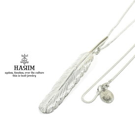 HARIM ハリム HRT001WH Feather Necklace /L 【CENTER】Silver シルバー フェザー ネックレス メンズ レディース 【あす楽対応】