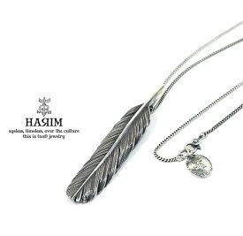 HARIM ハリム HRT004BK Feather Necklace /M 【CENTER】Silver シルバー フェザー ネックレス メンズ レディース 【あす楽対応】