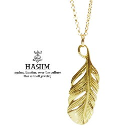 HARIM ハリム HRP092 K10HYG EXTRA TINY FEATHER necklace10金 ゴールド フェザー ネックレス